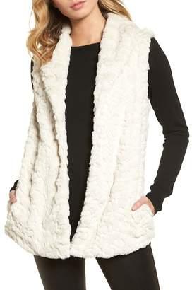 Dylan Silky Faux Fur Shawl Collar Vest