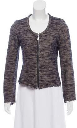 Rebecca Minkoff Tweed Zip-Up Blazer