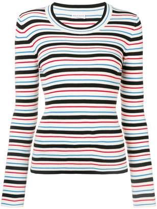 Sonia Rykiel striped ribbed knit sweater