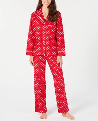 Charter Club Cotton Printed Flannel Pajama Set