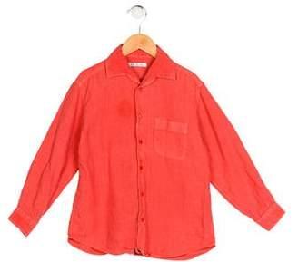 Loro Piana Boys' Collared Button-Up Shirt