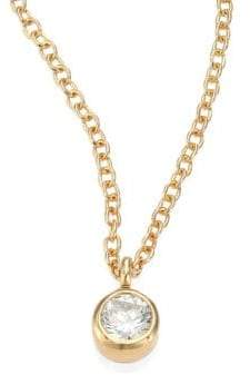 Chicco Zoe Diamond& 14K Yellow Gold Pendant Necklace