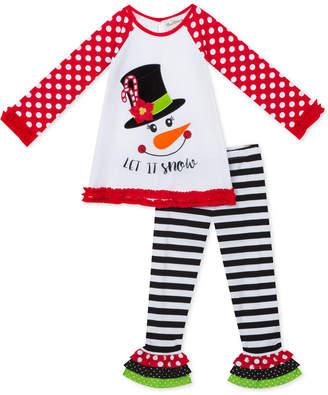 Rare Editions Toddler Girls 2-Pc. Snowman Tunic & Leggings Set