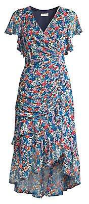 Shoshanna Women's Elnora Floral Silk Midi Dress