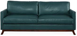 Edwards Sofa - Teal Leather - Miles Talbott