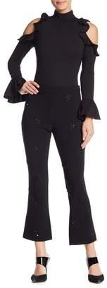 Cinq à Sept Inez Embellished Crop Pants