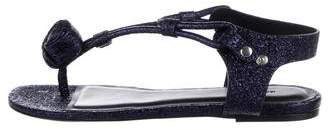 Isabel Marant Metallic T-Strap Sandals