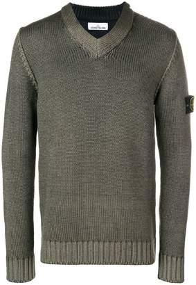 Stone Island v-neck sweater