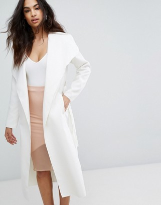 Boohoo Waterfall Duster Coat $35 thestylecure.com