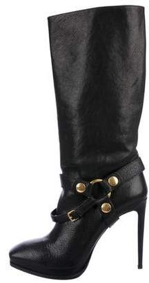 Miu Miu Leather High-Heel Boots