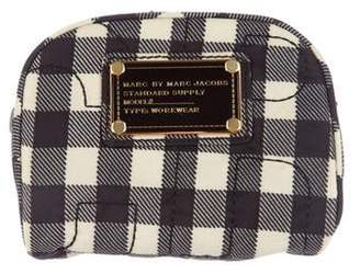 Marc by Marc Jacobs Gingham Print Nylon Cosmetic Pouch