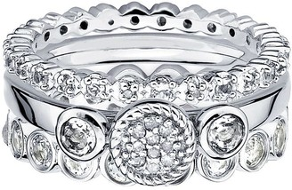 Simply Stacks Sterling Glitz Ring Set