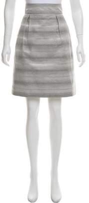 Peter Som Striped Knee-Length Skirt