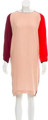 Tome Silk Colorblock Dress
