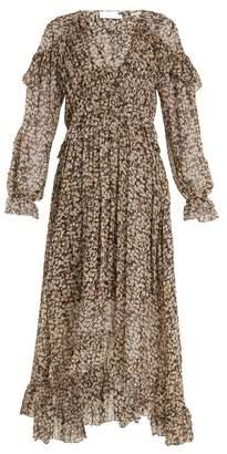 Zimmermann Prima Cherry Silk Georgette Dress - Womens - Black Multi