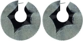 Arunashi Swirl Hoop Earrings