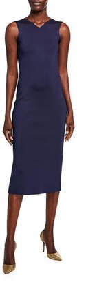 Victoria Beckham Colorblocked-Back Jersey Bodycon Dress