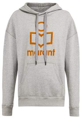 Etoile Isabel Marant Mansel Flocked Logo Cotton Blend Sweatshirt - Womens - Grey