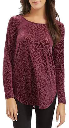 Karen Kane Burnout Velvet Top