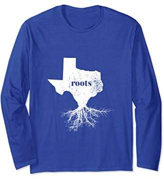 Texas Roots State Map Long Sleeve Shirt Home Love Pride Gift
