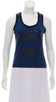 Christian Dior Logo Sleeveless Top