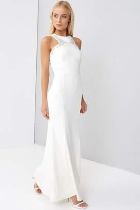 Little Mistress Cream Maxi Wedding Dress