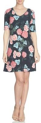 CeCe 'Floral Memoir' Knit A-Line Dress $99 thestylecure.com