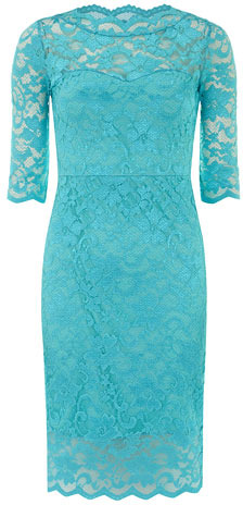 Dorothy Perkins Turquoise lace dress