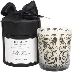 D. L. & Co. Wilde Flower Candle- Black