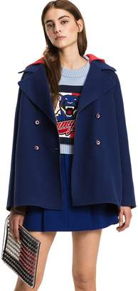 Tommy Hilfiger Double-Breasted Hooded Coat
