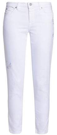 Pyper Embroidered Mid-Rise Skinny Jeans