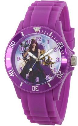 Disney Descendants 2 Mal Women's Purple Plastic Watch, Purple Bezel, Purple Plastic Strap