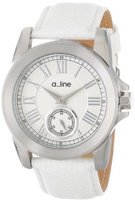 A Line A _ LINE Women 's al-80022 – 02-wh Amare ステンレススチールWatch withレザーバンド