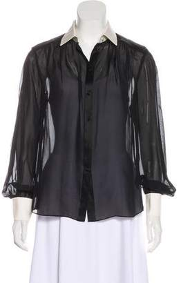 Rachel Zoe Silk Button-Up Blouse