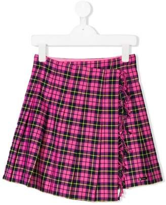 Burberry pleated tartan skirt