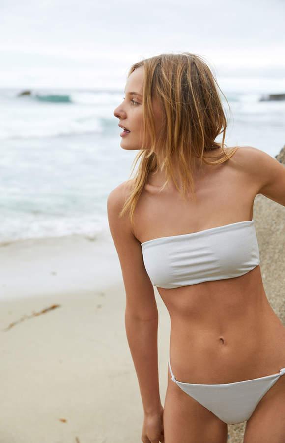 Kendall & Kylie Silver Bandeau Bikini Top
