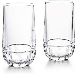 Ralph Lauren Monroe Set of 2 Lead Crystal Highball Glasses