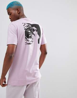 Asos Design DESIGN Longline T-Shirt With Rose Back Print