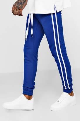 boohoo Skinny Fit Sport Stripe Joggers
