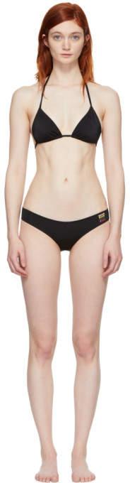Black Small Logo Triangle Bikini