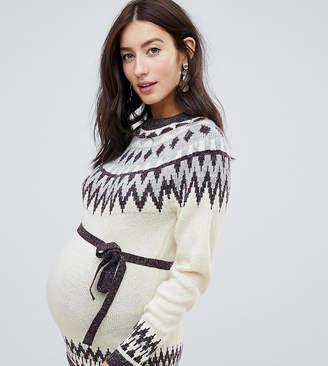Mama Licious Mama.licious Mamalicious intarsia sweater