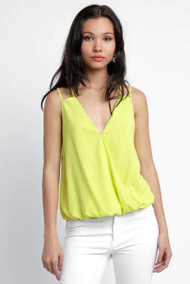 Cooper & Ella Carly Wrap Surplice Tank Top