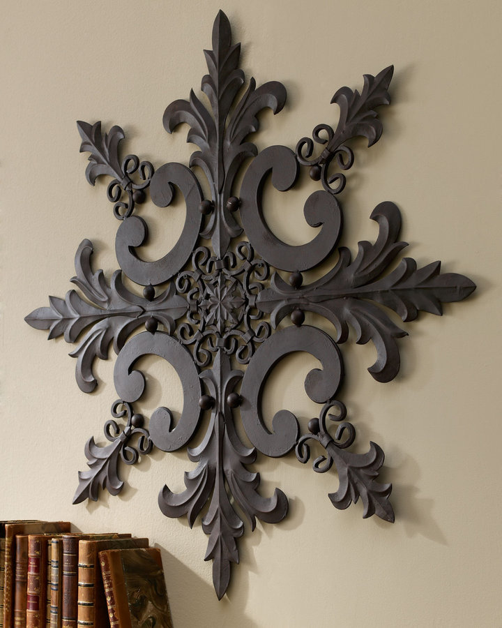 Horchow Iron & Tole Wall Medallion
