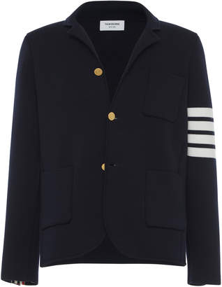 Thom Browne Four-Stripe Cotton-Wool Sport Coat