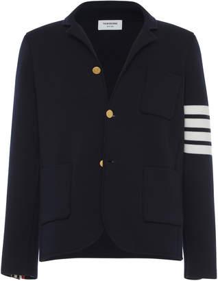 Thom Browne Four-Stripe Cotton-Wool Sport Coat