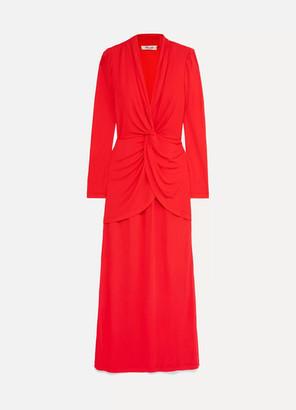 Diane von Furstenberg Stacia Knot-detail Crepe Maxi Dress - Red