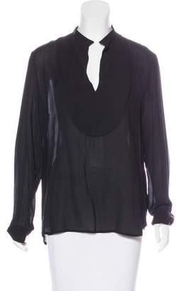 The Row Long Sleeve Tunic Blouse