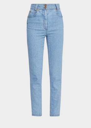 Versace Tartan Print Patch Jeans