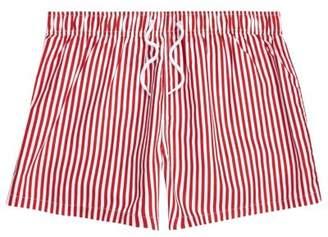 River Island Mens Red stripe print slim fit swim trunks