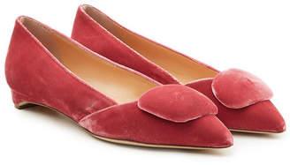 682df3bdd8c9 Red Velvet Ballerina Flats - ShopStyle